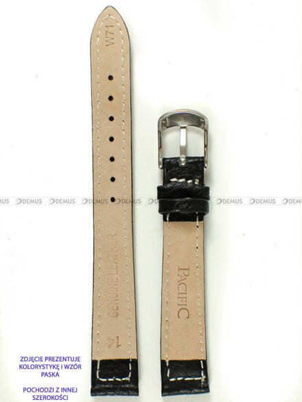 Pasek skórzany do zegarka - Pacific W71.16.1.1 - 16 mm