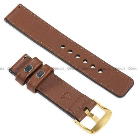 Pasek skórzany do zegarka lub smartwatcha - moVear WQU0C01GD00GDPM20B2 - 20 mm
