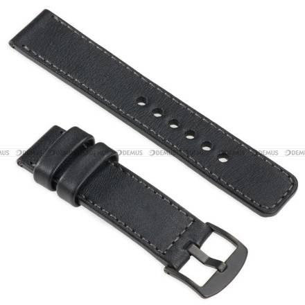 Pasek skórzany do zegarka lub smartwatcha - moVear WQU0C01GP00BKMM26BK - 26 mm