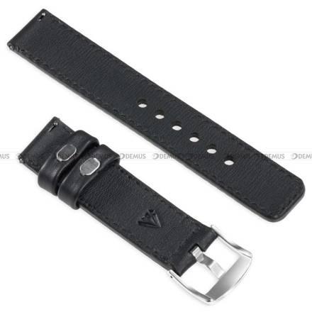 Pasek skórzany do zegarka lub smartwatcha - moVear WQU0C01RE00SLBM20BK - 20 mm