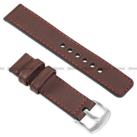 Pasek skórzany do zegarka lub smartwatcha - moVear WQU0C01RE00SLBM22B1 - 22 mm