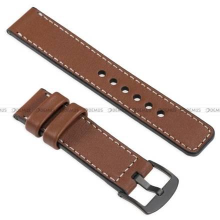 Pasek skórzany do zegarka lub smartwatcha - moVear WQU0C01SL00BKMM18B2 - 18 mm
