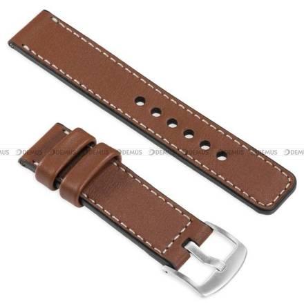 Pasek skórzany do zegarka lub smartwatcha - moVear WQU0C01SL00SLBM24B2 - 24 mm