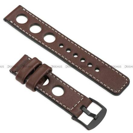 Pasek skórzany do zegarka lub smartwatcha - moVear WQU0R01SL00BKMM22B1 - 22 mm