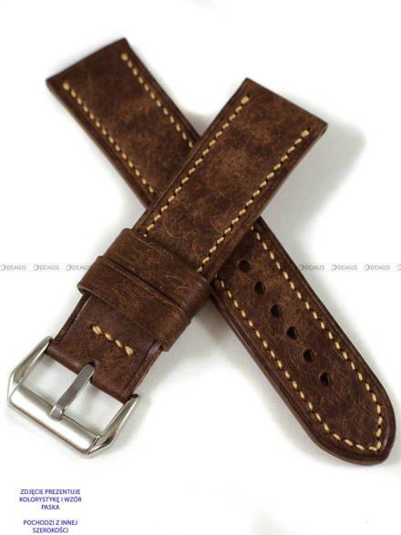 Pasek skórzany ręcznie robiony A. Kucharski Leather - Conceria Il Ponte Maya - chocolate/earthyyellow 32 mm