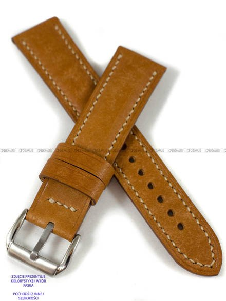 Pasek skórzany ręcznie robiony A. Kucharski Leather - Conceria Il Ponte Maya - cognac/camel 16 mm