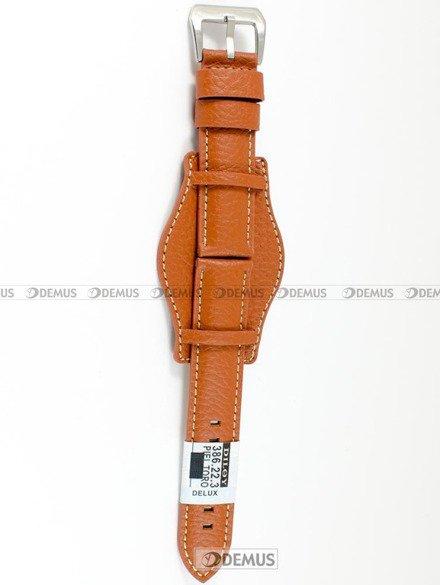 Pasek skórzany z podkładką do zegarka - Diloy 386.22.3 - 22 mm
