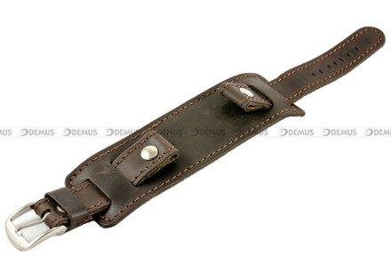 Pasek skórzany z podkładką do zegarka - Horido 0112.02.20S - 20 mm