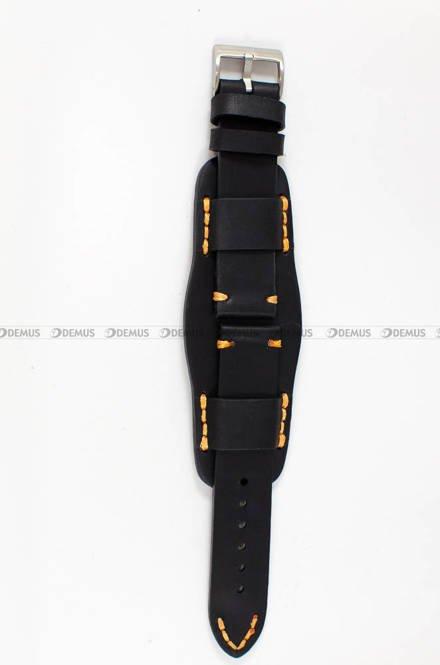 Pasek skórzany z podkładką ręcznie robiony do zegarka - Tekla PT-HM2-22.1.6 - 22 mm