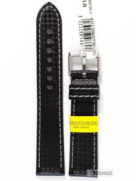 Pasek wodoodporny karbonowy do zegarka - Morellato A01U3586977891 20 mm