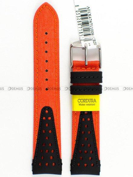 Pasek wodoodporny skórzano-nylonowy do zegarka - Morellato A01X4747110086 - 20 mm