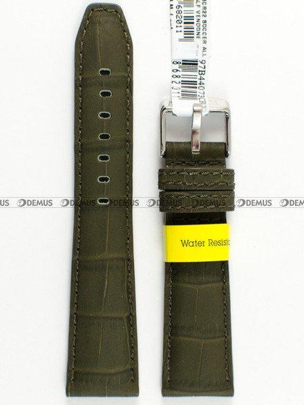 Pasek wodoodporny skórzany do zegarka - Morellato A01X4497B44073 - 18 mm