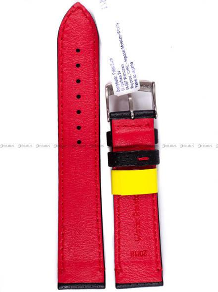 Pasek wodoodporny skórzany do zegarka - Morellato A01X4909C18883 - 20 mm