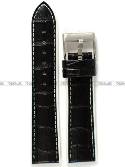 Pasek z tworzywa i skóry do zegarka - Diloy 420.22.1.22 - 22 mm