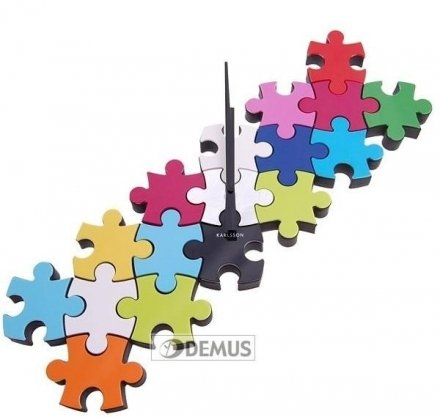 Zegar ścienny Karlsson Do It Yourself Puzzle Multi Colour KA5058