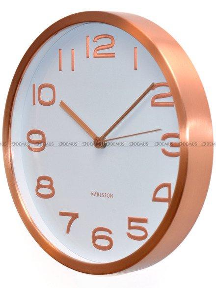Zegar ścienny Karlsson Maxie Copper Numbers White KA5578WH