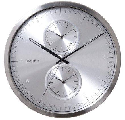Zegar ścienny Karlsson Multiple Time Aluminium KA5508SI