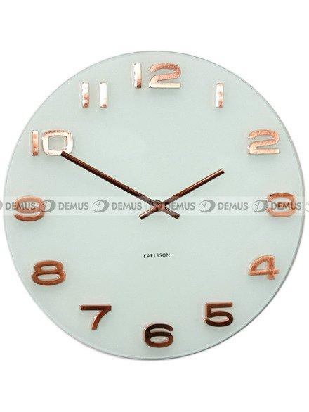 Zegar ścienny Karlsson Vintage Round White Copper Numbers KA5534