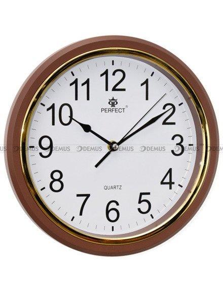 Zegar ścienny Perfect FX-5842Q4 Brązowy - 28 cm