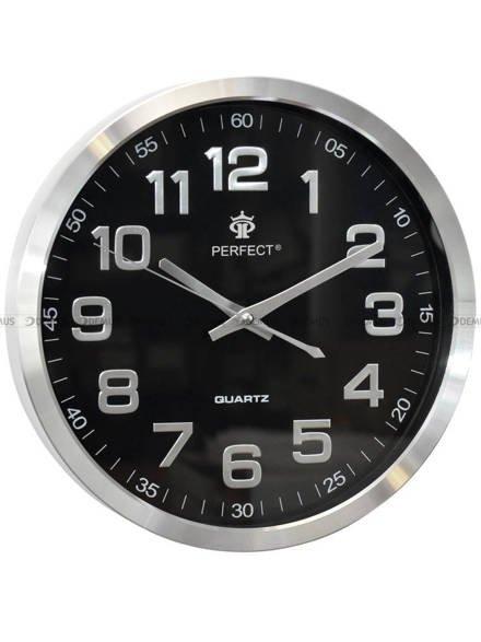 Zegar ścienny Perfect PW192-1700-BLACK aluminiowy 30 cm
