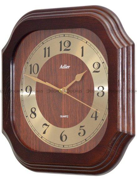 Zegar ścienny drewniany złoty cyferblat złote wskazówki 21149-W