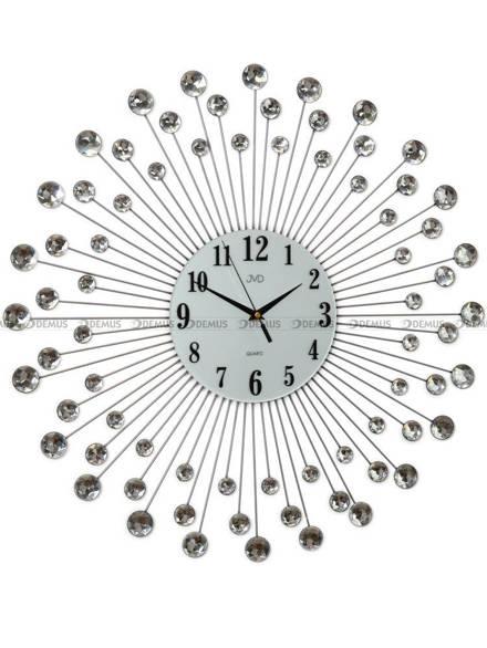 Zegar ścienny metalowy z akrylowymi kryształkami HJ23.1