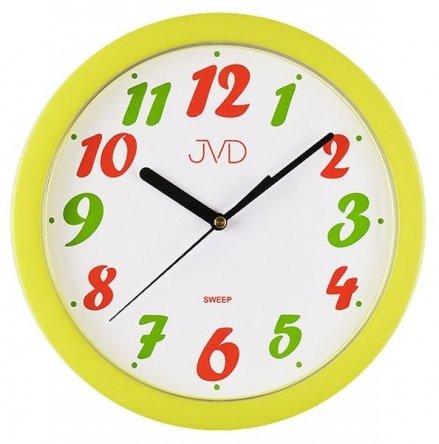 Zegar ścienny plastikowy zółto-jaskrawa obudowa HP612.22