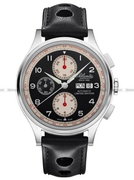 Zegarek Atlantic Worldmaster Chronograph Valjoux 55852.41.63 - Limitowana edycja - Dodatkowy pasek w zestawie