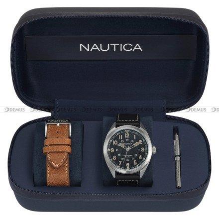 Zegarek Męski Battery Park NAPBTP006 - Dodatkowy pasek w zestawie