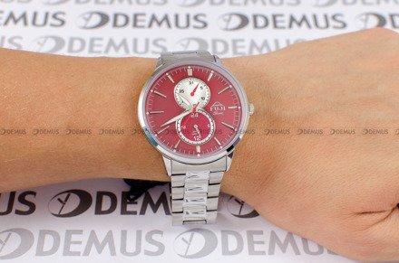 Zegarek Męski FujiTime M7108QS-Red-Silver