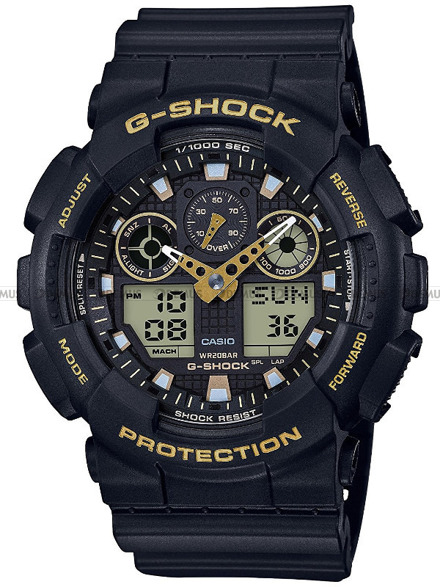 Zegarek Męski G-SHOCK BLACK AND GOLD GA-100GBX-1A9ER