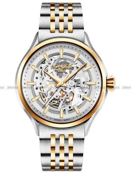 Zegarek Męski automatyczny Roamer Competence Skeleton III 101663 47 15 10N