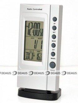 Budzik z termometrem MPM RS8419-SILVER