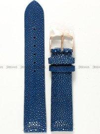 Pasek Undine ze skóry płaszczki do zegarka Vostok - 20 mm niebieski RG