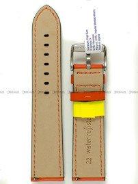 Pasek do zegarka wodoodporny skórzany - Morellato A01X5123C03084CR22 - 22 mm