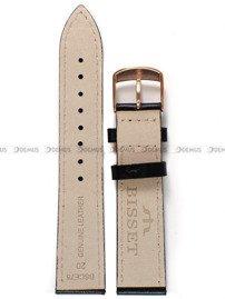 Pasek skórzany do zegarka Bisset BSCE75 - ABP/E75-Black-Orange - 20 mm