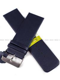 Pasek skórzany do zegarka - Diloy 327.28.5 28mm granatowy