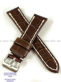 Pasek skórzany do zegarka - Pacific W49.22.2.7 - 22 mm