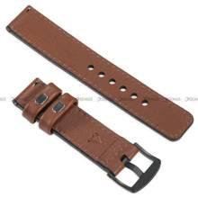 Pasek skórzany do zegarka lub smartwatcha - moVear WQU0C01SL00BKMM22B2 - 22 mm