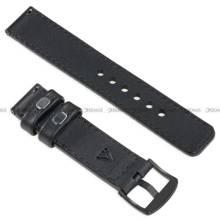 Pasek skórzany do zegarka lub smartwatcha - moVear WQU0C01SL00BKMM26BK - 26 mm