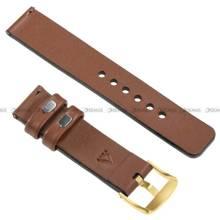 Pasek skórzany do zegarka lub smartwatcha - moVear WQU0S010000GDPM20B2 - 20 mm