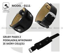 Pasek skórzany z podkładką do zegarka - Horido 0111.01.20S - 20 mm
