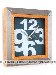 Zegar ścienny aluminiowo-drewniany N26109.2