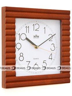 Zegar ścienny drewniany kwadratowy prążkowana obudowa E07.2700.50