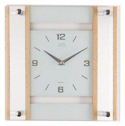 Zegar ścienny szklano-drewniany N20118.68