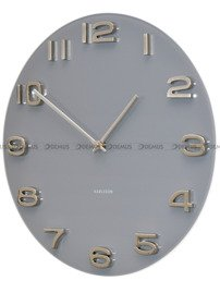 Zegar ścienny szklany Karlsson KA5489GY
